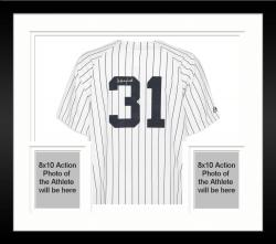 Framed Majestic Dave Winfield New York Yankees Autographed Jersey - White Pinstripe