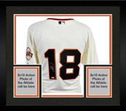 Framed Majestic Matt Cain San Francisco Giants Autographed Authentic Jersey - Beige