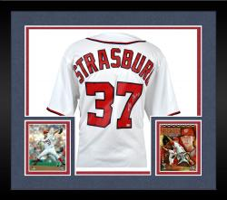Framed Majestic Stephen Strasburg Washington Nationals Autographed Jersey - White