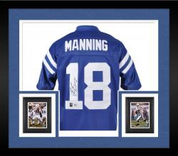 Framed Manning, Peyton Auto (blue/reebok Eqt) Jersey
