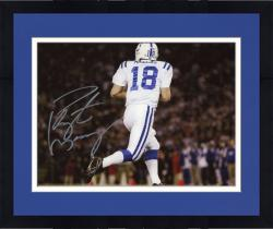 Framed Peyton Manning Indianapolis Colts Fanatics Authentic Autographed 8'' x 10'' Back View Horizontal Photograph