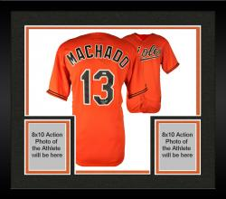 Framed Manny Machado Baltimore Orioles Autographed Orange Jersey