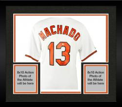 Framed Manny Machado Baltimore Orioles Autographed White Jersey