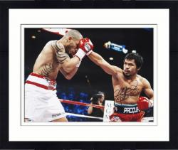 "Framed Manny Pacquiao Autographed 16"" x 20"" vs. Miguel Cotto Photograph with Pacman Inscription"