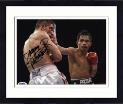 Framed Manny Pacquiao Autographed 8'' x 10'' Bloodshot Eyes Photograph