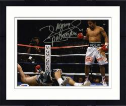 "Framed Manny Pacquiao Autographed 8"" x 10"" vs. Rick Hatton Knock Down Photograph"
