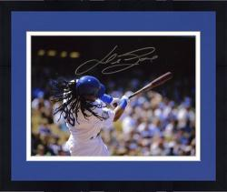 "Framed Manny Ramirez Los Angeles Dodgers Autographed 8"" x 10"" Batting Photograph"