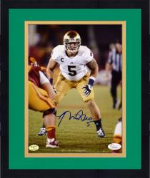 "Framed Manti Te'o Notre Dame Fighting Irish Autographed 8"" x 10"" vs. USC Trojans Photograph"