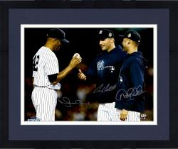 Framed Mariano Rivera, Andy Pettitte & Derek Jeter New York Yankees Autographed 16'' x 20'' Photograph