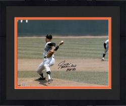 "Framed Juan Marichal San Francisco Giants Autographed 16"" x 20"" Hands Over Head Photograph with HOF 83 Inscription"