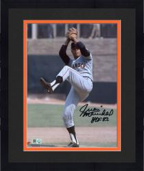 "Framed Juan Marichal San Francisco Giants Autographed 8"" x 10"" Pitch Delivery Photograph with HOF 83 Inscription"