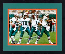 Framed Dan Marino Miami Dolphins Autographed 16'' x 20'' Throwing Motion Photograph