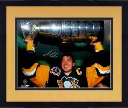 """Framed Mario Lemieux Autographed Stanley Cup 16"""" x 20"""" Photograph"""