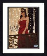 "Framed Marion Cotillard Autographed 8"" x 10"" The Dark Knight Rises Photograph - Beckett COA"