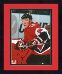 Framed Marion Hosa Buffalo Sabres Autographed 8'' x 10'' Red Jersey Photograph