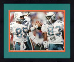 Framed Mark Clayton Autographed Photograph - Duper Miami Dolphins 16x20 Mounted Memories