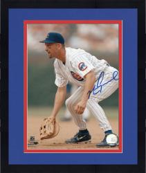 "Framed Mark Grace Chicago Cubs Autographed 8"" x 10"" Fielding Photograph"