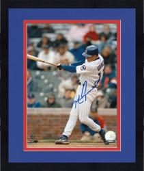 "Framed Mark Grace Chicago Cubs Autographed 8"" x 10"" Hitting Photograph"