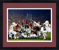 "Framed Mark Ingram Alabama Crimson Tide Autographed 16"" x 20"" Goal Line TD Rush Photograph"