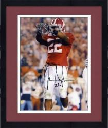 Framed Mark Ingram Alabama Crimson Tide Autographed 8'' x 10'' Rock Pose Photograph