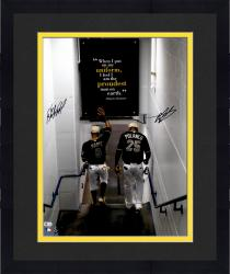 Framed Mark Melancon & Starling Marte Pittsburgh Pirates Dual Autographed 16'' x 20'' Walking Down Tunnel Photograph