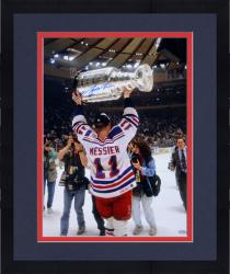 """Framed Mark Messier New York Rangers 1994 Stanley Cup Champions Autographed 16"""" x 20"""" Cup Overhead Photograph"""