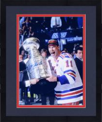 Framed Mark Messier New York Rangers 1994 Stanley Cup Champions Autographed 16'' x 20'' Vertical Celebration Photograph