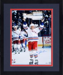 Framed Mark Messier New York Rangers Autographed 16'' x 20'' Cup Overhead Photograph