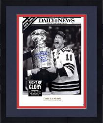 Framed Mark Messier New York Rangers Autographed 16'' x 20'' Daily News Photograph