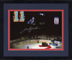"Framed Mark Messier New York Rangers Autographed 8"" x 10"" Horizontal Retirement Night Photograph"