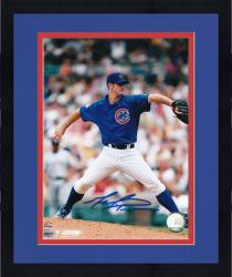 "Framed Mark Prior Chicago Cubs Autographed 8"" x 10"" Blue Jersey Photograph"