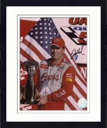 Framed Sterling Marlin Autographed 8'' x 10'' Coors Light 2002 Winston Cup Photograph