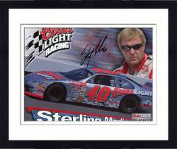 Framed Sterling Marlin Autographed 8'' x 10'' Coors Light Coors Glasses On Photograph