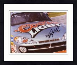 Framed Sterling Marlin Autographed 8'' x 10'' Coors Light In Car Front View Photograph