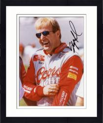 Framed Sterling Marlin Autographed 8'' x 10'' Coors Light Laughing Glasses On Photograph
