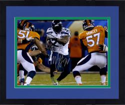 "Framed Marshawn Lynch Seattle Seahawks Super Bowl XLVIII Champions 16"" x 20"" Autographed Running Photo"