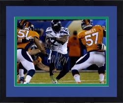 "Framed Marshawn Lynch Seattle Seahawks Super Bowl XLVIII Champions 16"" x 20"" Autographed Running Photo"