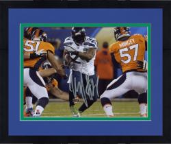 "Framed Marshawn Lynch Seattle Seahawks Super Bowl XLVIII Champions Autographed 8"" x 10"" Running Photo"