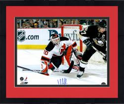 "Framed Martin Brodeur New Jersey Devils Autographed 16"" x 20"" vs. Sidney Crosby Photograph"