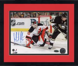 "Framed Martin Brodeur New Jersey Devils Autographed 8"" x 10"" vs. Sidney Crosby Photograph"