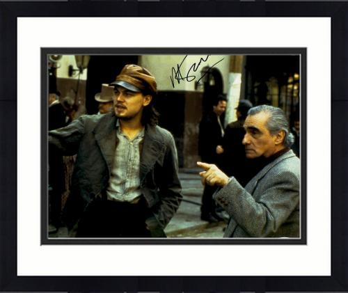 "Framed Martin Scorsese Autographed 11"" x 14""  Gangs Of New York With Leonardo DiCaprio Photograph - PSA/DNA COA"
