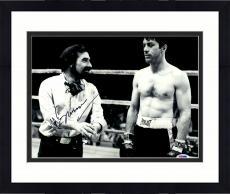 """Framed Martin Scorsese Autographed 11"""" x 14"""" Raging Bull Standing Next To Robert De Niro Photograph - PSA/DNA COA"""