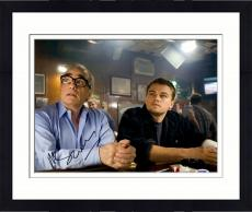 """Framed Martin Scorsese Autographed 11"""" x 14"""" The Departed Sitting With Leonardo DiCaprio Photograph - PSA/DNA COA"""