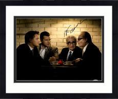 "Framed Martin Scorsese Autographed 11"" x 14"" The Departed Sitting With Matt Damon, Jack Nicholson, And Leonardo DiCaprio Photograph- PSA/DNA COA"