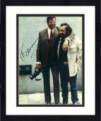 """Framed Martin Scorsese Autographed 11"""" x 14"""" The King Of Comedy With Jerry Lewis  Photograph - PSA/DNA COA"""