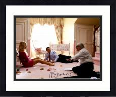 """Framed Martin Scorsese Autographed 11"""" x 14"""" The Wolf Of Wall Street With Leonardo DiCaprio And Margot Robbie Photograph - PSA/DNA COA"""