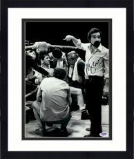 "Framed Martin Scorsese Autographed 11"" x 14""Raging Bull Poiting At Robert De Niro Sitting Down Photograph - PSA/DNA COA"
