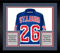 Framed Martin St. Louis New York Rangers Autographed Reebok Blue Jersey