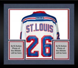 Framed Martin St. Louis New York Rangers Autographed Reebok White Jersey