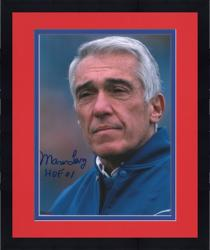 Framed Marv Levy Buffalo Bills Autographed 8'' x 10'' Coaching Photograph with HOF 01 Inscription